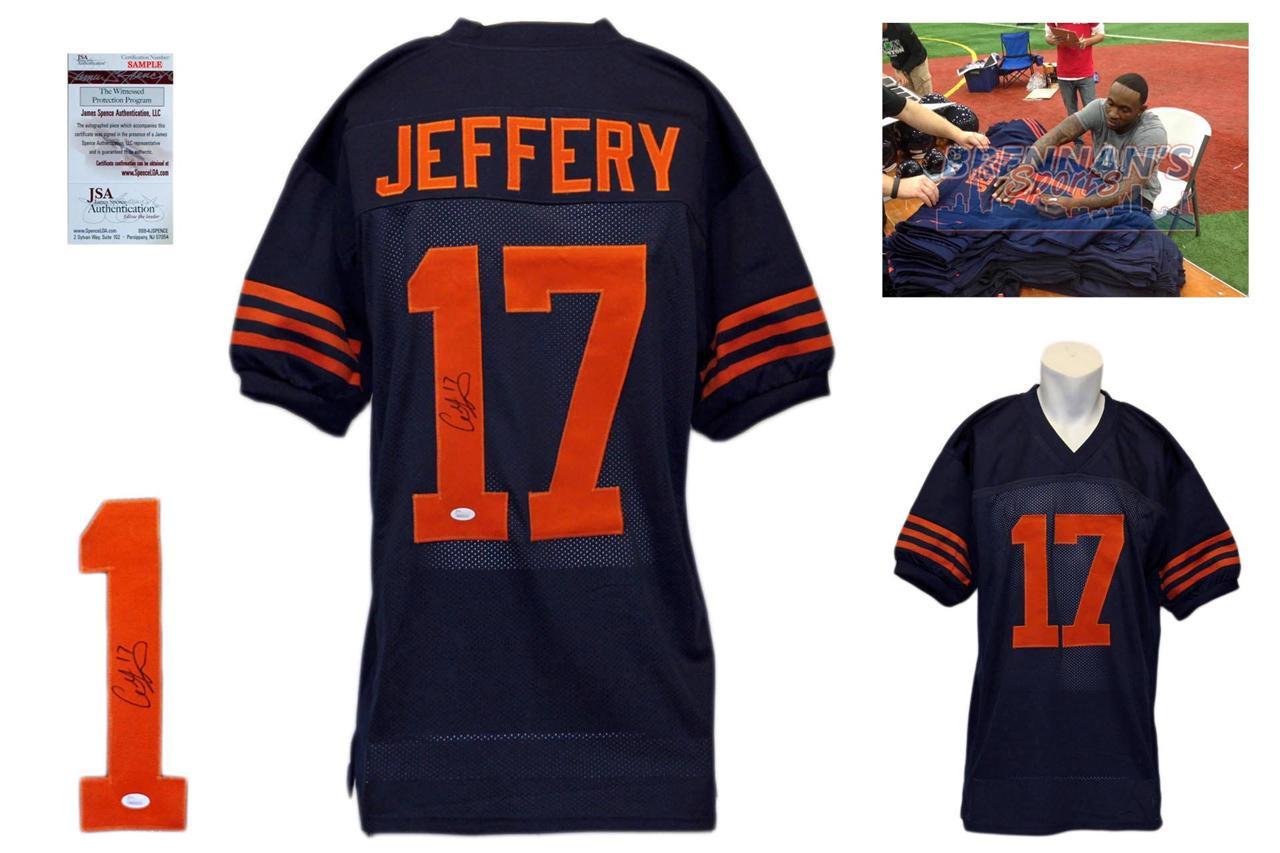 Alshon Jeffery Signed Jersey - JSA Witness - Chicago Bears Autographed - Throwback