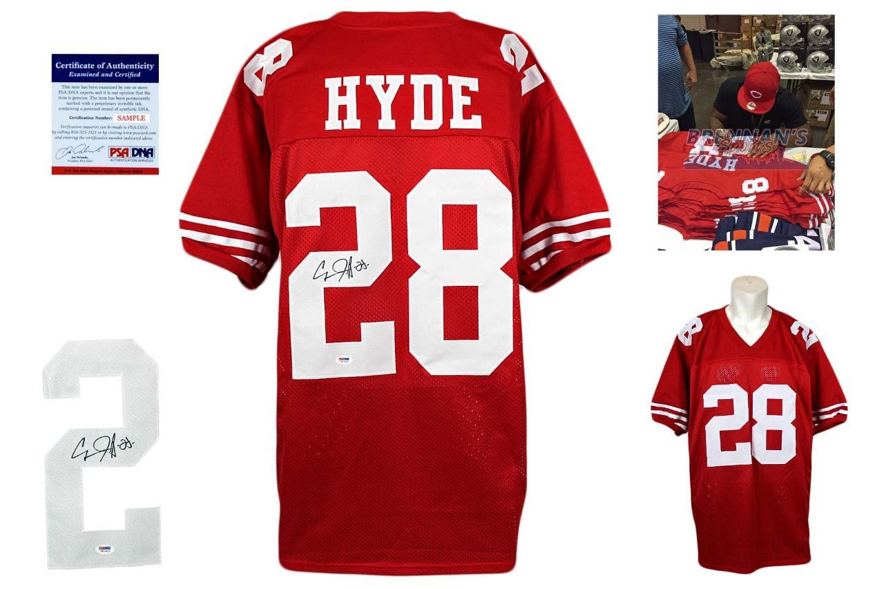 the latest f8b17 a1f74 Carlos Hyde Signed Jersey - PSA DNA - San Francisco 49ers Autographed
