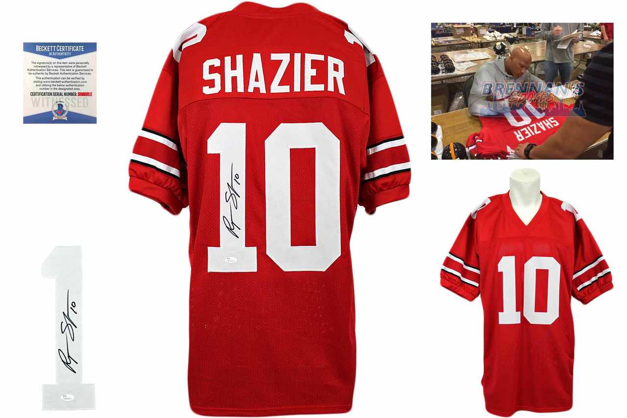 brand new 7d4f7 746b1 Ryan Shazier Autographed Jersey - Red - Beckett Authentic