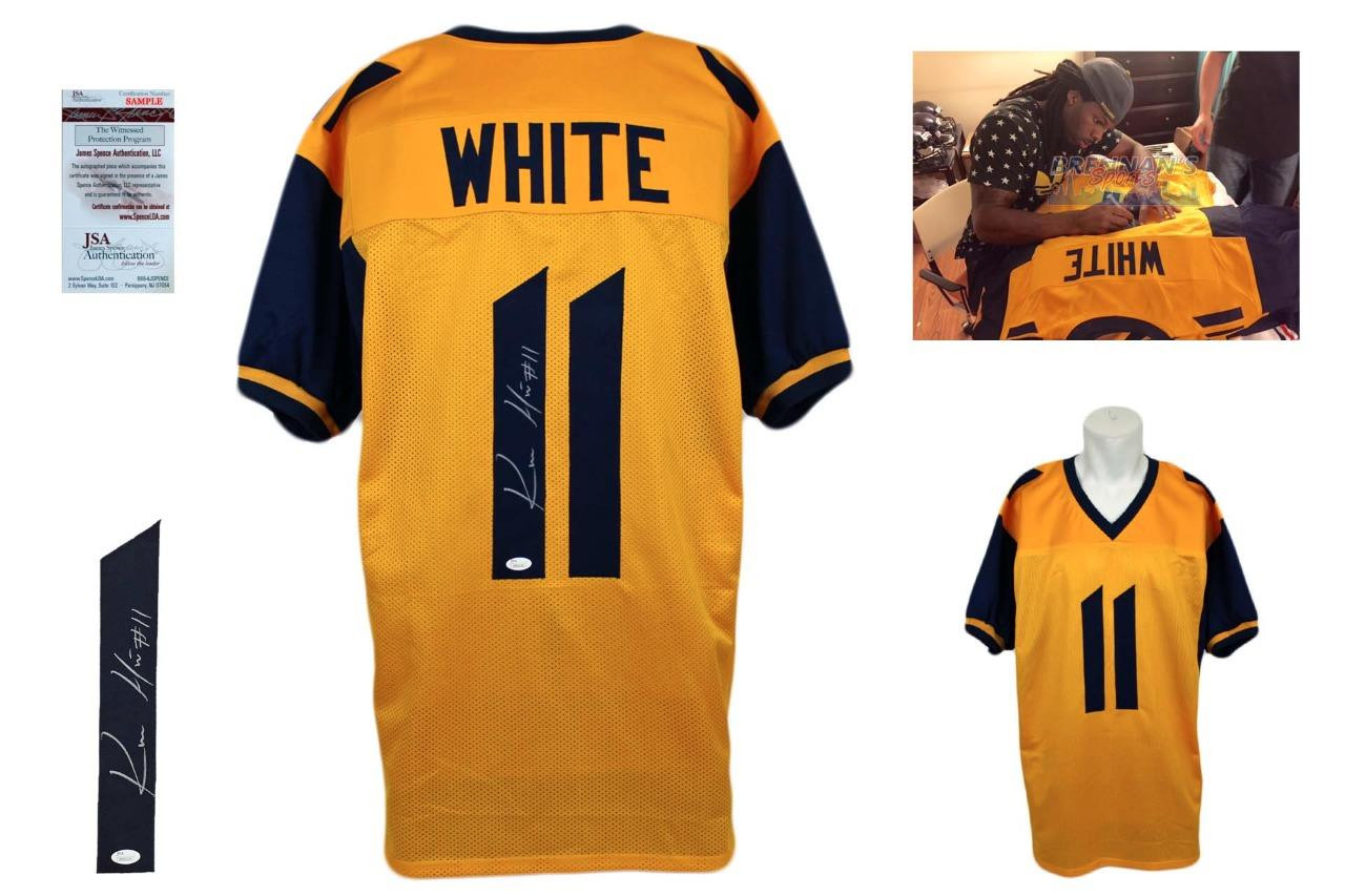 ... Kevin White Signed Jersey - JSA Witness - West Virginia Mountaineers  Autographed ... a57db4f3f