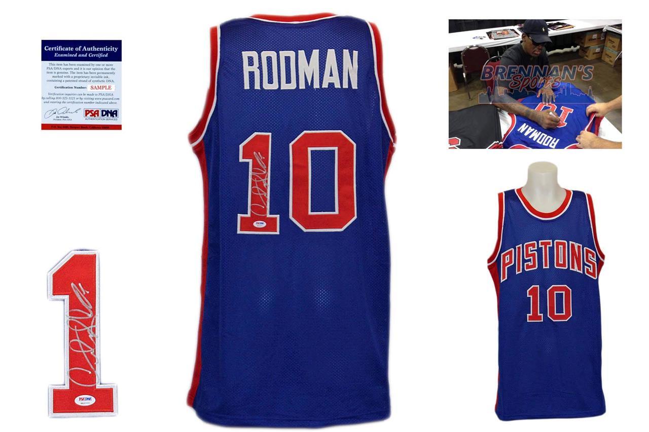 huge discount 4526b 0b3ff Dennis Rodman Signed Jersey - PSA DNA - Detroit Pistons Autographed