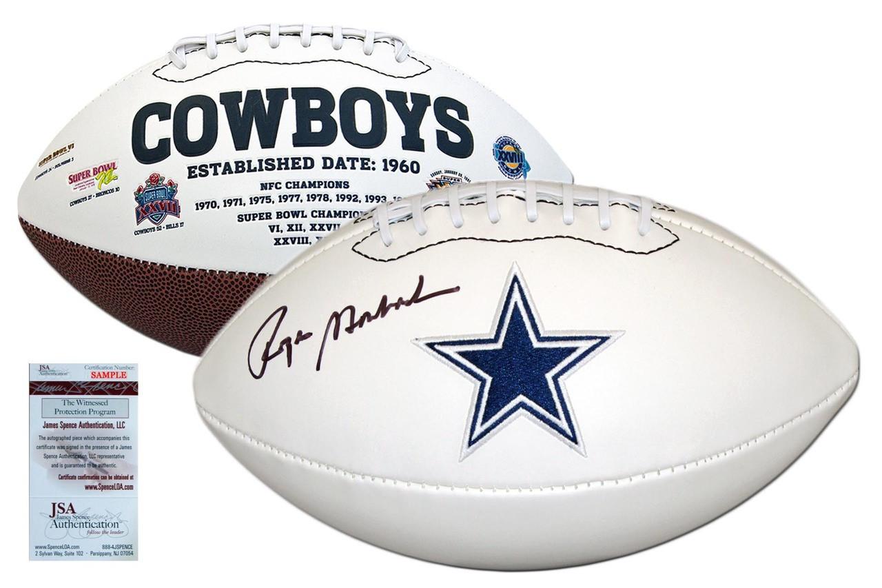 a266e5a5c9b Roger Staubach Autographed Signed Dallas Cowboys Football - JSA Authentic