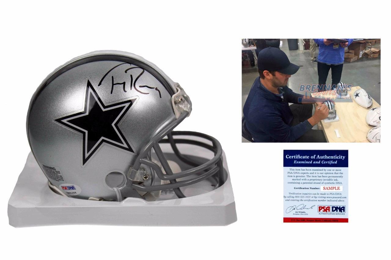21a78337934 Tony Romo Signed Mini-Helmet - Dallas Cowboys Autographed - PSA-DNA -  BrennansSports.com