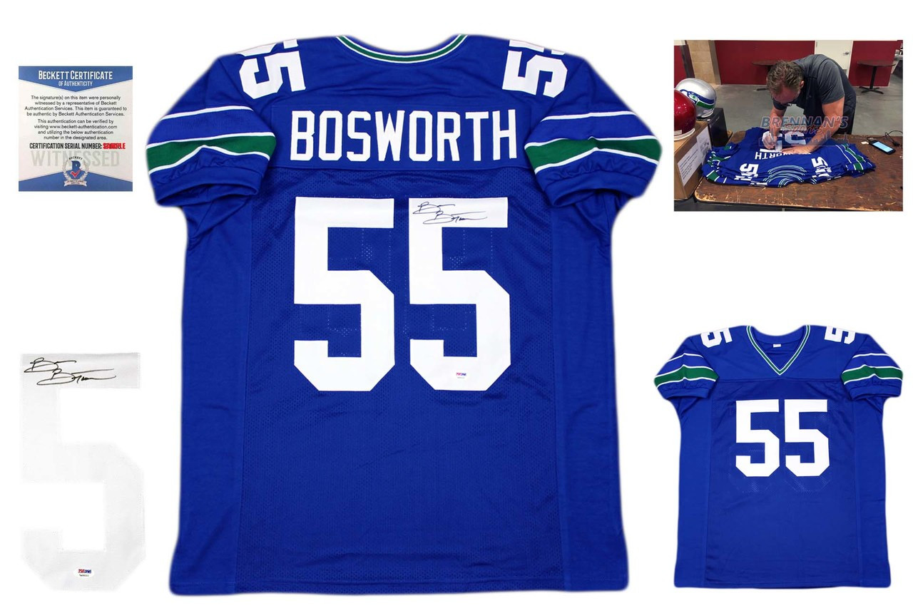 Brian Bosworth Autographed Signed Jersey - Royal - Beckett Authentic ... 2f4c50931