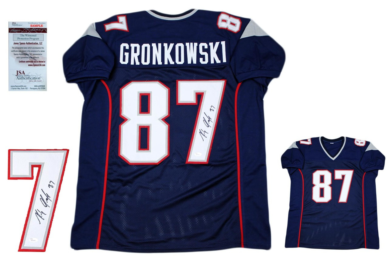9b515b23e Rob Gronkowski Autographed Jersey - Navy - Beckett Authentic ...