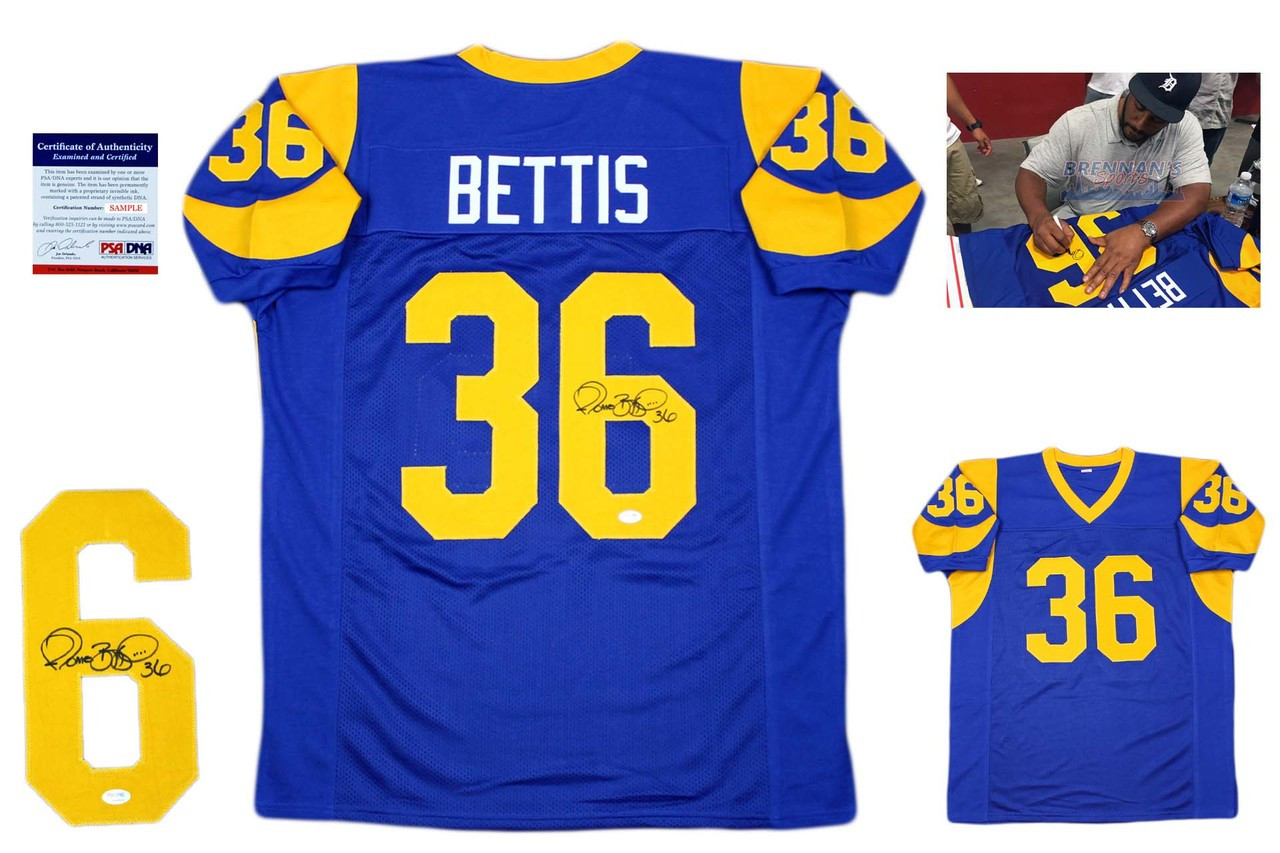 new product 5669f d7d68 Jerome Bettis Autographed Signed Jersey - Royal - PSA DNA Authentic