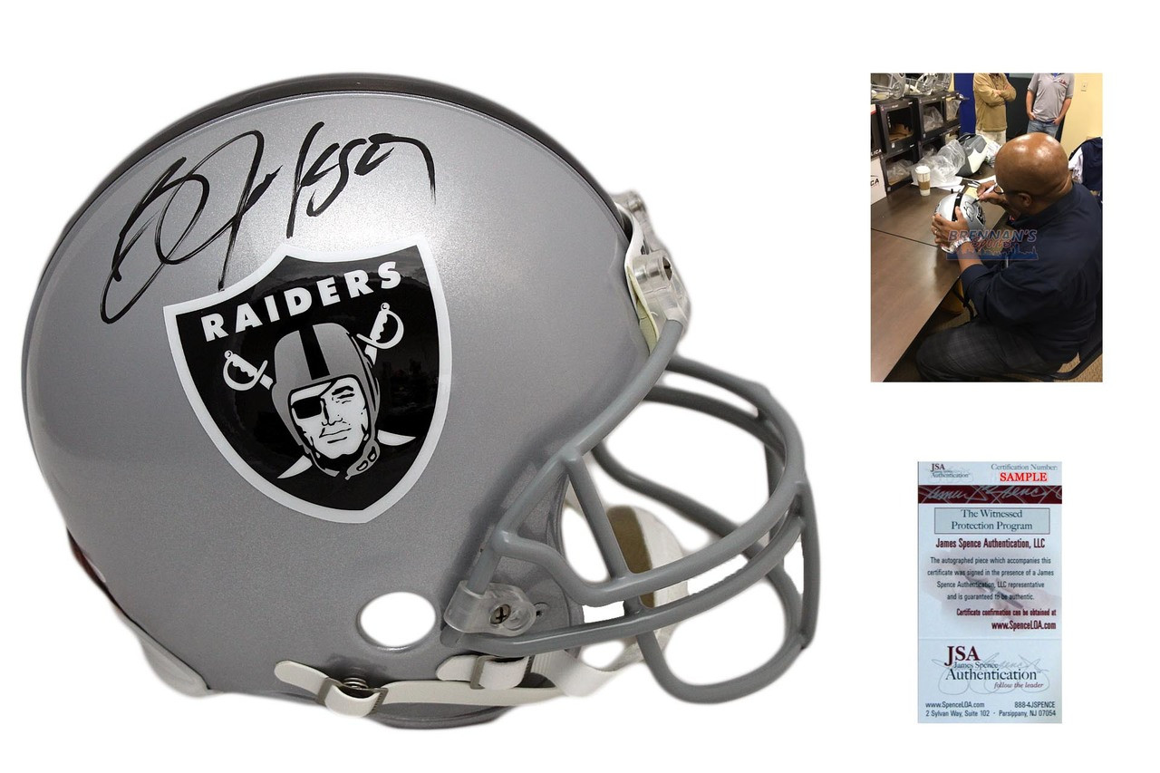the best attitude 9b80a da325 Bo Jackson Signed Oakland Raiders Authentic Helmet - JSA Witnessed  Autographed