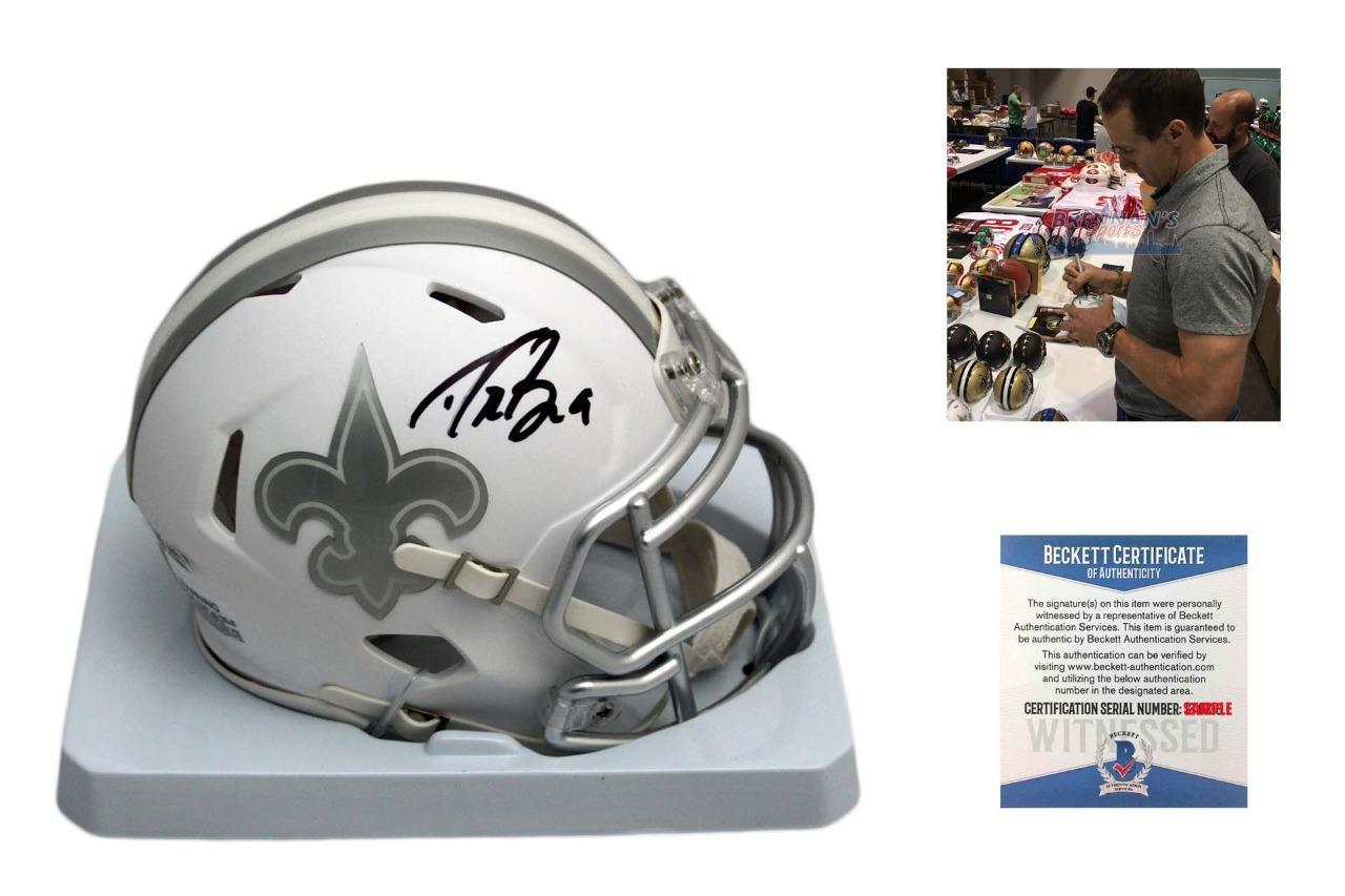 34350a1ee3c Drew Brees Signed New Orleans Saints ICE Speed Mini Helmet - Beckett  Authentic - BrennansSports.com