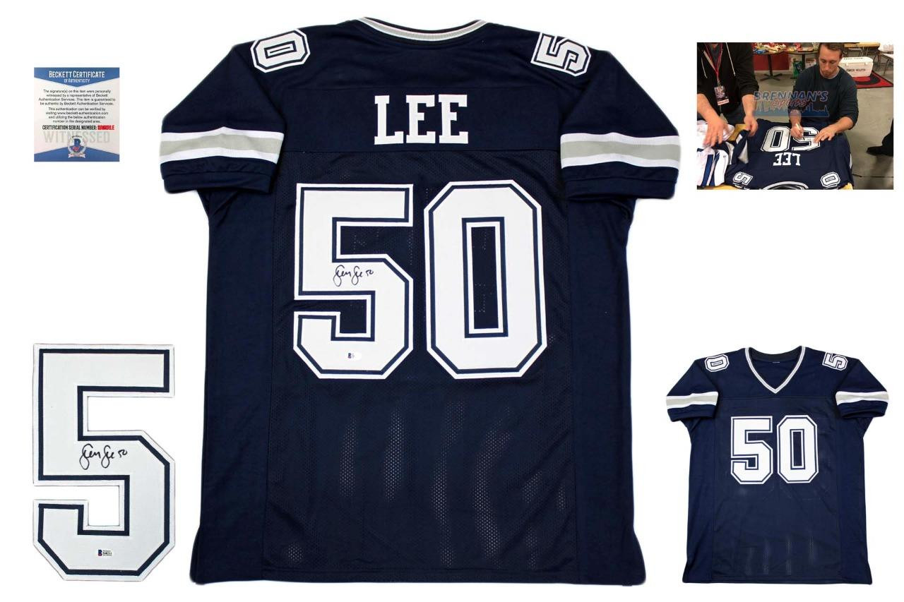 Sean Lee Autographed Signed Jersey - Navy - Beckett Authentic ... f0e0912e9