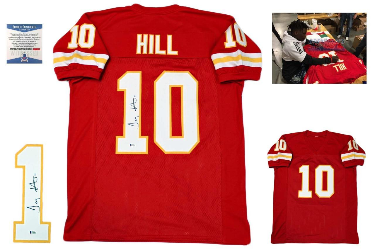 newest 235a9 39f6a Tyreek Hill Autographed Signed Jersey - Red - Beckett Authentic