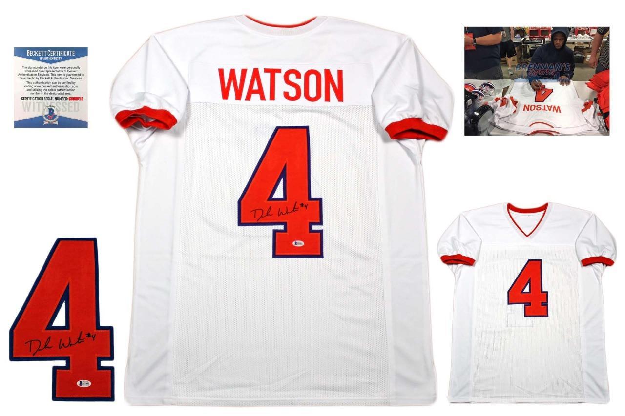 wholesale dealer 7dac7 5409b Deshaun Watson Autographed Signed Jersey - Beckett Authentic - White