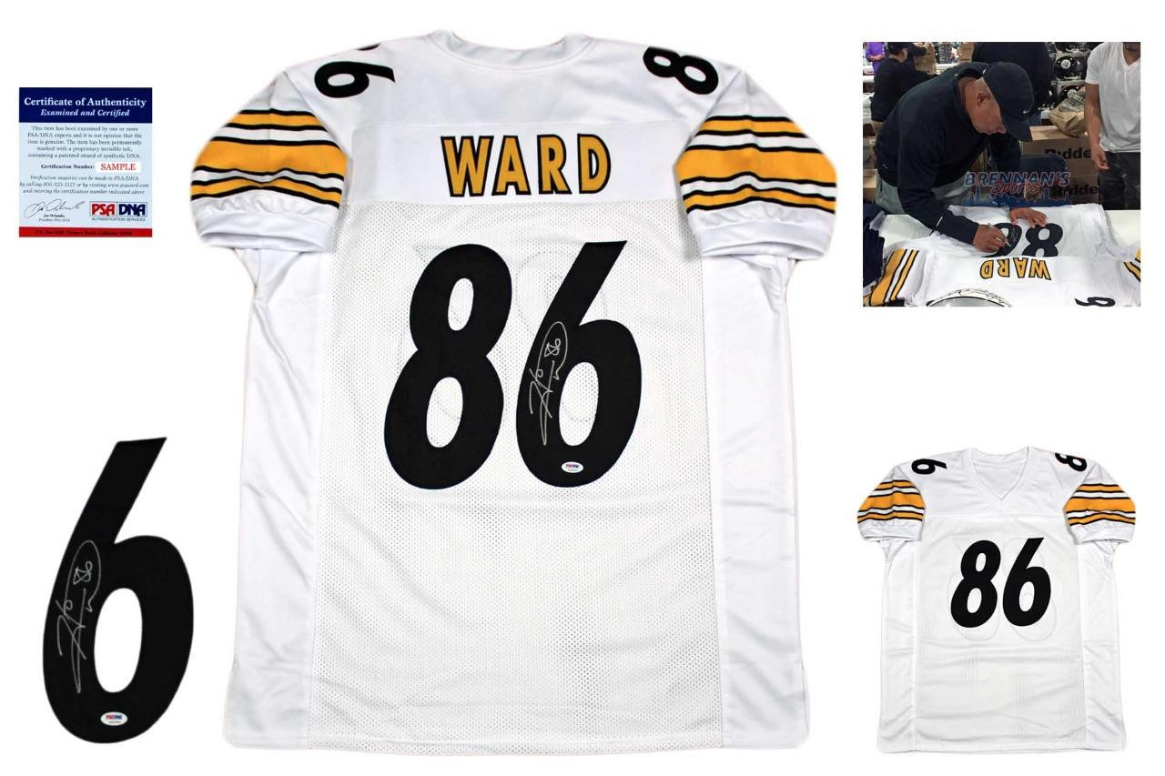 656d5ef8f4a Hines Ward Autographed SIGNED Jersey - PSA - White - BrennansSports.com