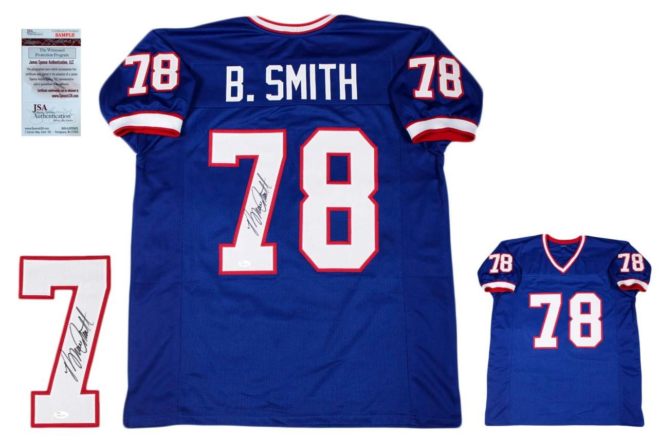 Bruce Smith Autographed Signed Jersey - Beckett Authentic - Royal ... e0911f657