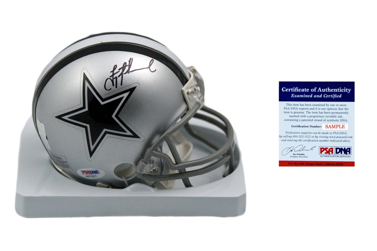 low priced c4686 aee18 Troy Aikman Autographed SIGNED Dallas Cowboys Mini Helmet