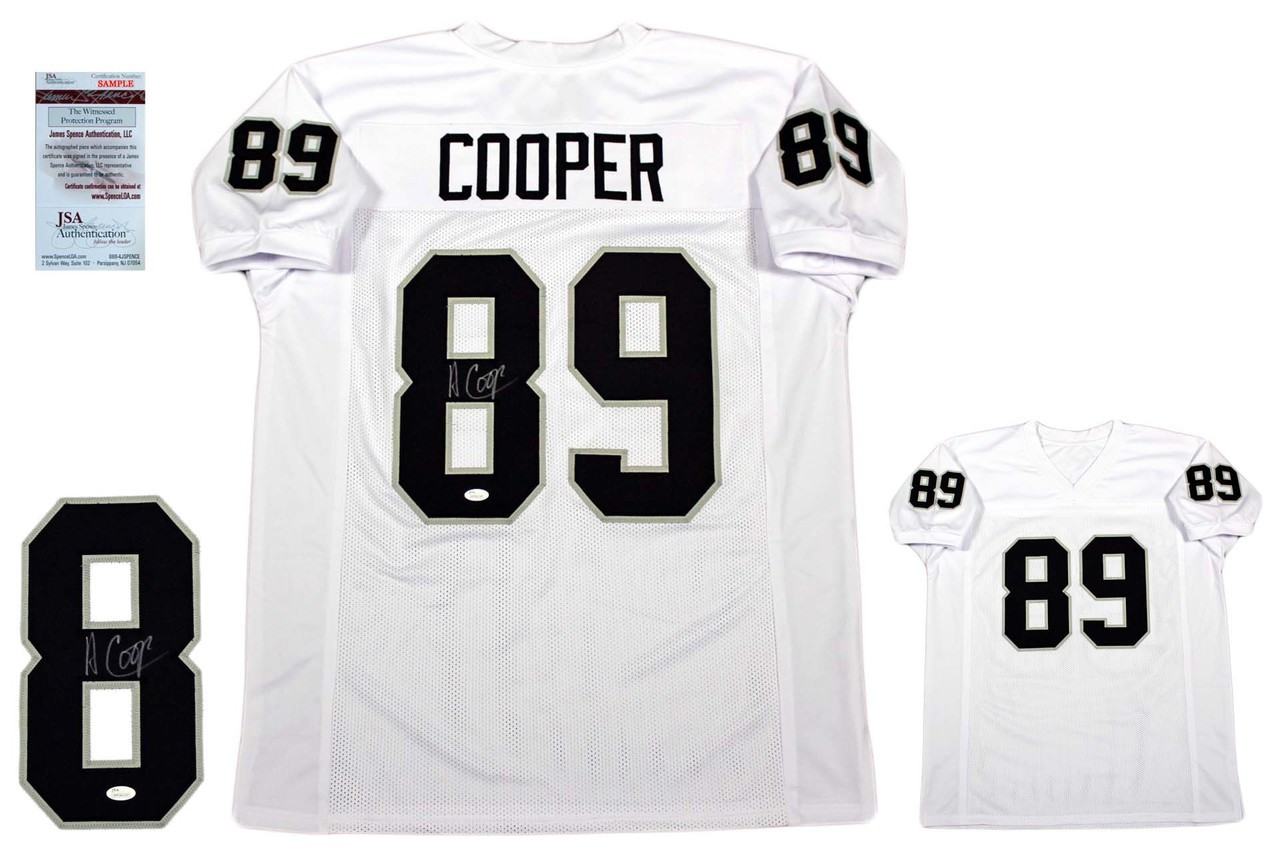 watch 61bb7 f9021 Amari Cooper Autographed Signed Jersey - JSA Witnessed - White