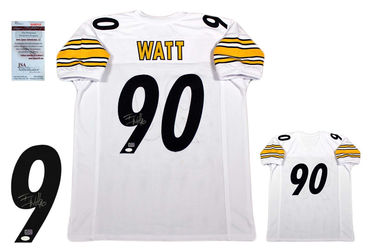 5c6ccbfbe TJ Watt Autographed Signed Jersey - JSA Witnessed - White ...