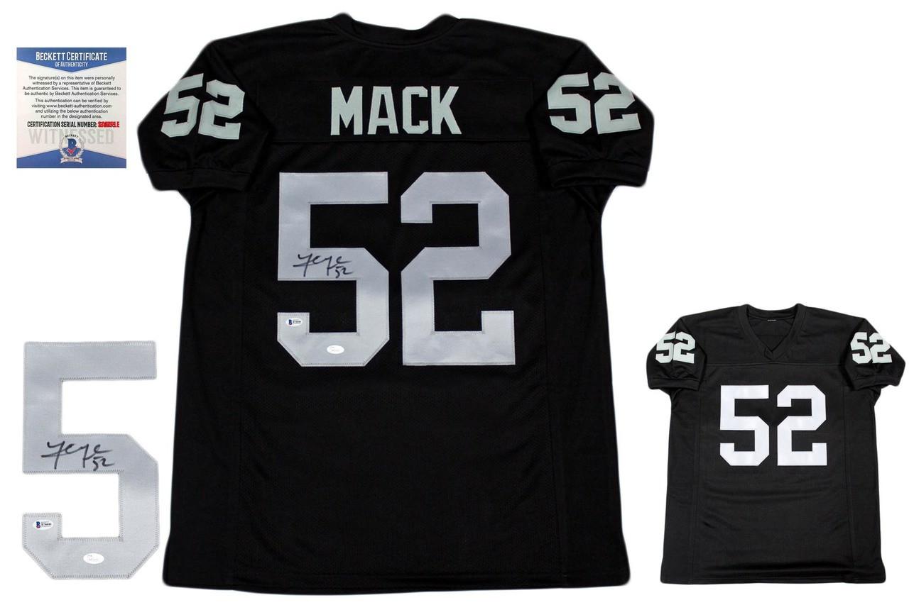newest 4e501 37a7c Khalil Mack Autographed Signed Jersey - Beckett - Black