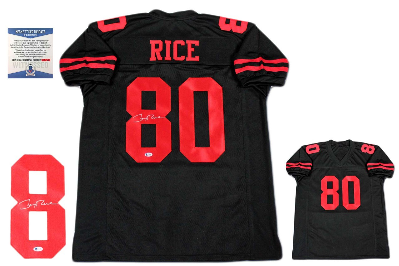 the latest d514f 6d5d2 Jerry Rice Signed Jersey - Beckett Witnessed Authentic - Black