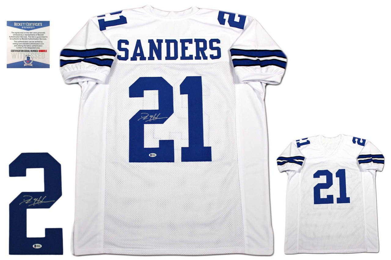 pretty nice 0c834 0f12e Deion Sanders Autographed Jersey - Beckett Authentic - White