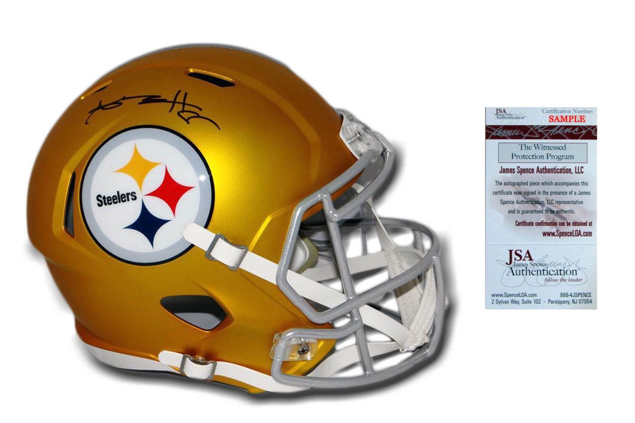 8d5e17f49 Antonio Brown Autographed Signed Steelers Speed Blaze Helmet - JSA ...