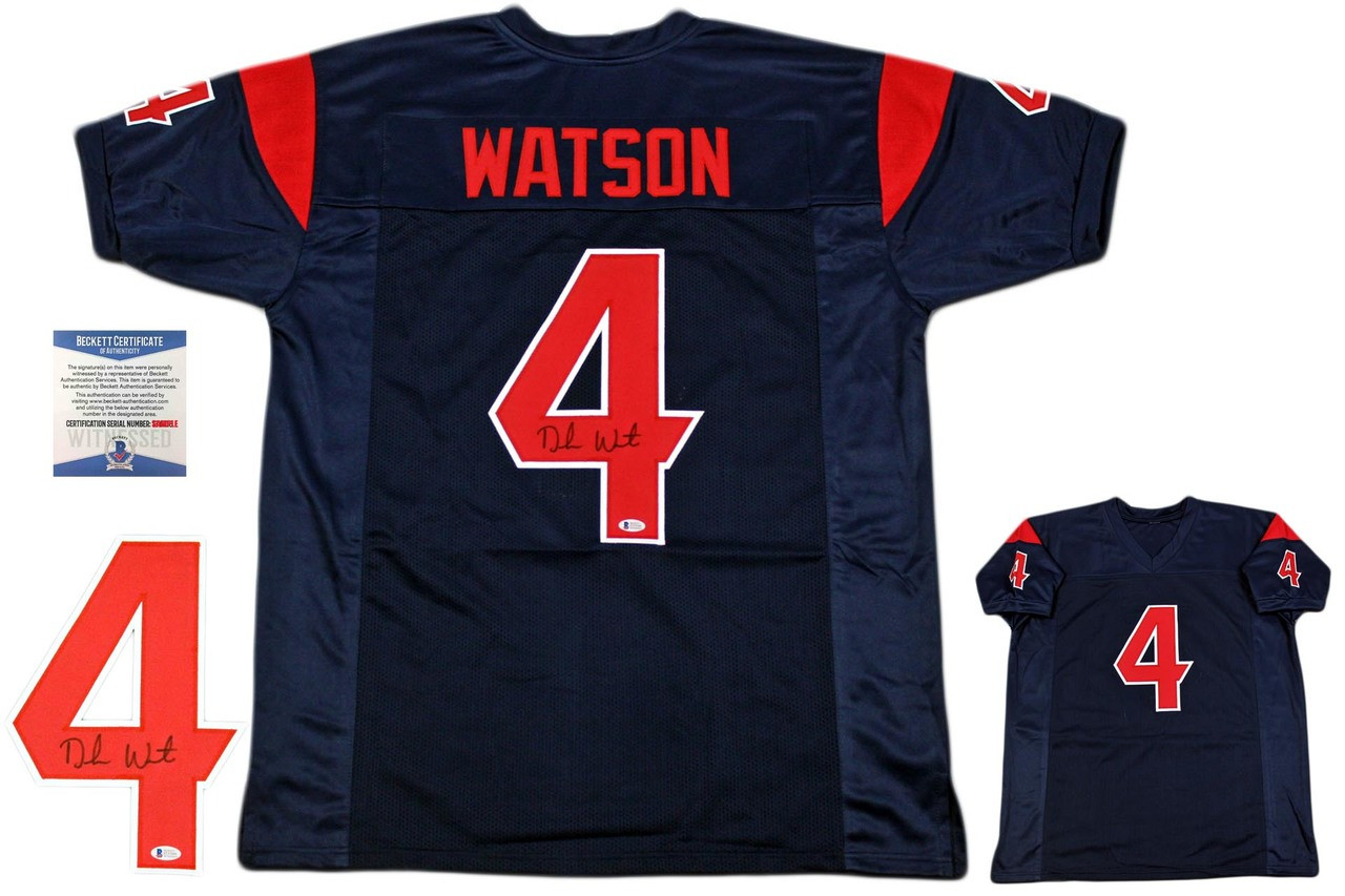 best service c44b4 f973d Deshaun Watson Autographed Jersey - Beckett Authentic - Color Rush