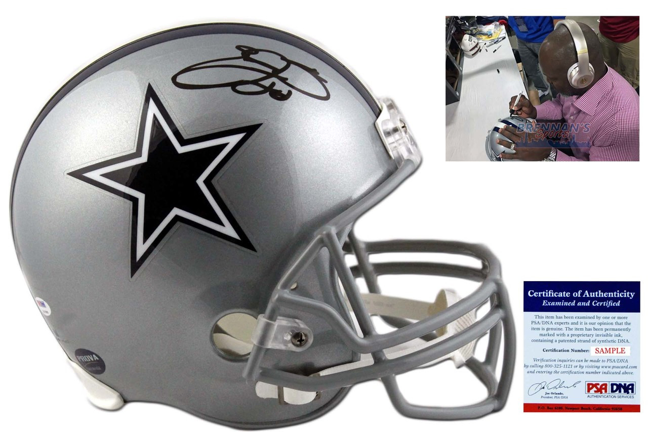 ce62f6020 Emmitt Smith Autographed Dallas Cowboys Full Size Helmet - PSA DNA ...