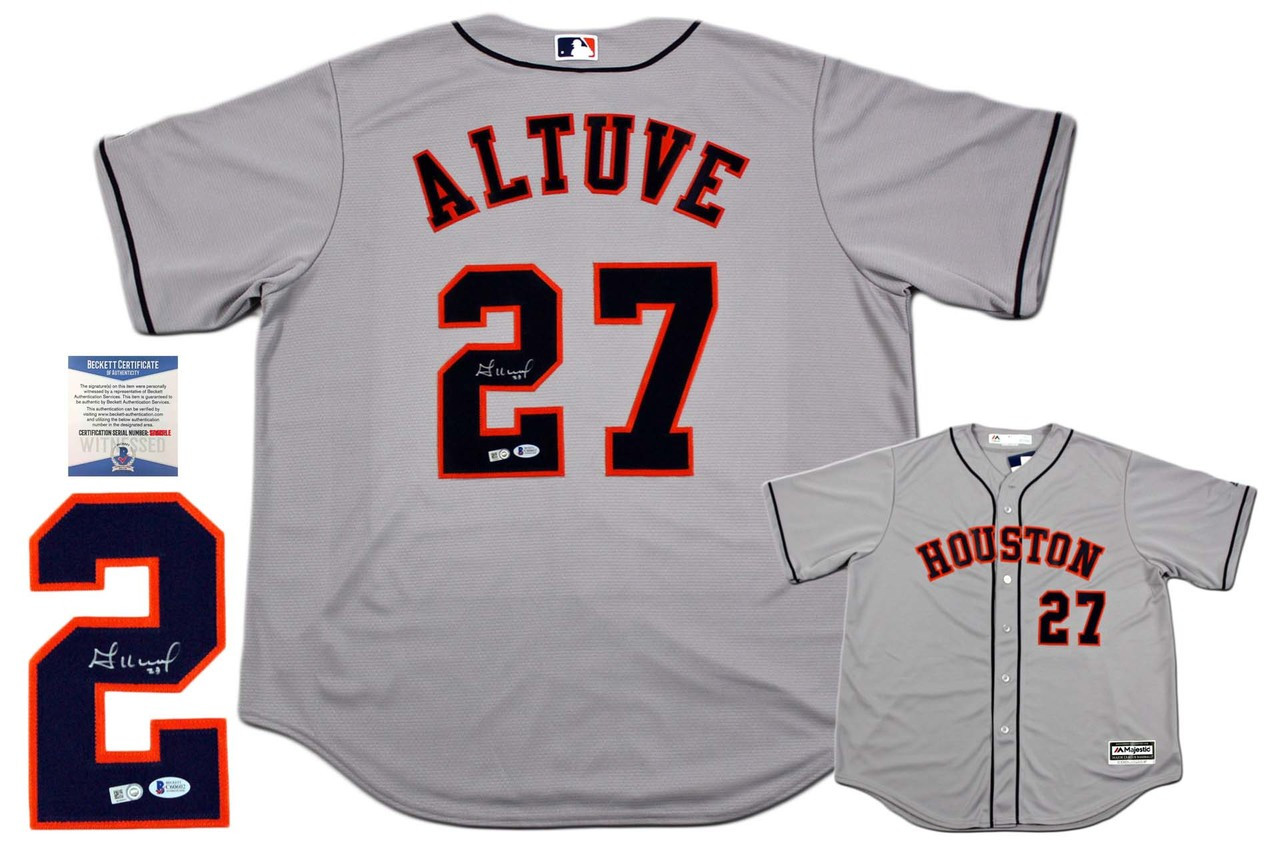 newest 4e3d6 cfdc9 Jose Altuve Autographed Signed Houston Astros Majestic Jersey - MLB  Authentic