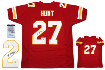 Kareem Hunt Autographed Signed Jersey - JSA Witnessed - Authentic