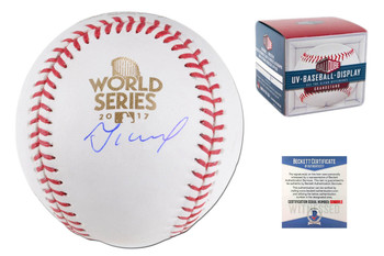 Jose Altuve Autographed Signed 2017 World Series Baseball - Beckett Witnessed