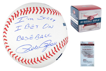 "Pete Rose Autographed Signed ""Sorry"" Baseball"