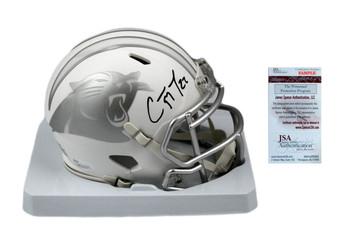 Christian McCaffrey Autographed Carolina Panthers ICE Mini Helmet