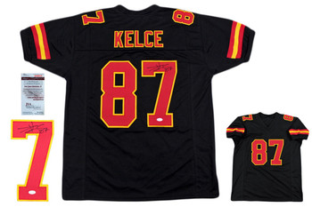Travis Kelce Autographed Signed Jersey - JSA Witnessed - Black