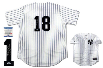 Didi Gregorius Autographed New Yankees Majestic Jersey - Beckett