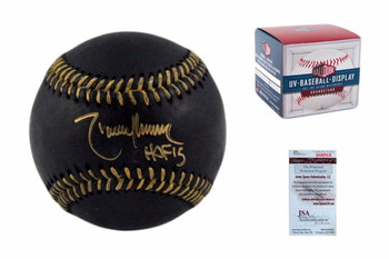 Randy Johnson Autographed Black Baseball - JSA Witnessed - HOF 15