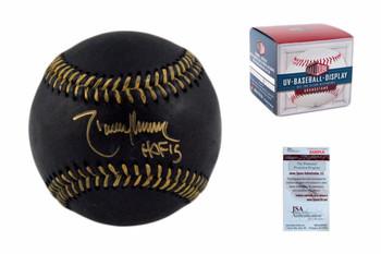 Randy Johnson Autographed Black Baseball - JSA Witnessed - HOF 15