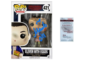 Millie Bobby Brown Autographed Funko Pop Eleven with Eggos - Stranger Things