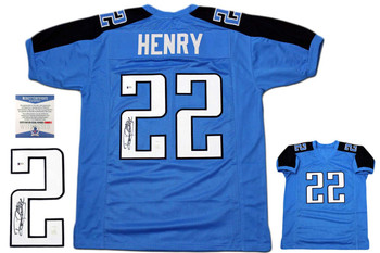 Derrick Henry Autographed Signed Jersey - Beckett Authentic - Blue