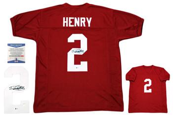Derrick Henry Autographed Signed Jersey - Beckett Authentic - Crimson