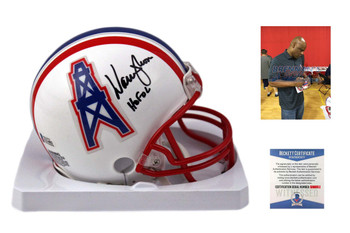 Warren Moon Autographed Houston Oilers Mini Helmet