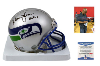 Warren Moon Autographed Seattle Seahawks Mini Helmet