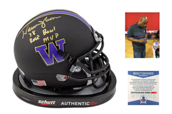 Warren Moon Autographed Washington Huskies Mini Helmet