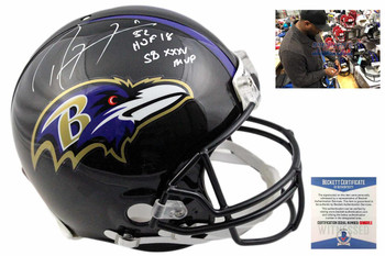 Ray Lewis Autographed Baltimore Ravens Full Size Authentic Helmet