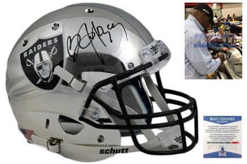 Bo Jackson Autographed Signed Oakland Raiders Custom Chrome Helmet - Beckett