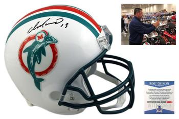Dan Marino Signed Miami Dolphins Full Size Rep Helmet - Beckett