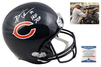 Brian Urlacher Autographed Helmet - Chicago Bears Signed - HOF 18 - Beckett