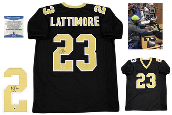 Marshon Lattimore Autographed Jersey - Beckett Authentic - Black
