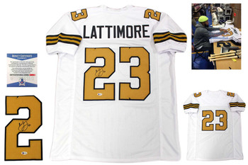 Marshon Lattimore Signed Jersey - Beckett Authentic - White TB