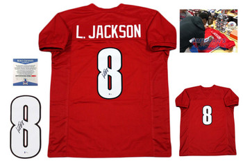 Lamar Jackson Signed Jersey - Beckett Authentic - Red