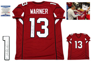 Kurt Warner Autographed Jersey - Beckett Authentic - Red