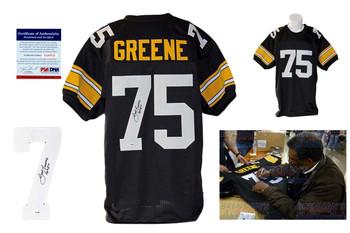 Joe Greene Autographed Jersey - JSA Witnessed - Black